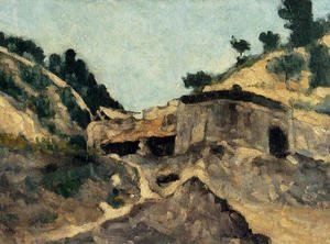 Reproduction oil paintings - Paul Cezanne - Landscape With Watermill