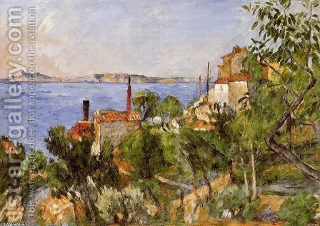 Landscape  Study After Nature Aka The Seat At L Estaque by Paul Cezanne - Reproduction Oil Painting