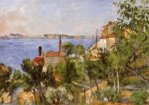 Reproduction oil paintings - Paul Cezanne - Landscape  Study After Nature Aka The Seat At L Estaque