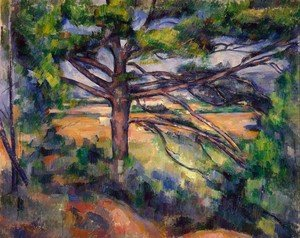 Reproduction oil paintings - Paul Cezanne - Large Pine And Red Earth