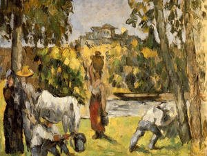 Reproduction oil paintings - Paul Cezanne - Life In The Fields