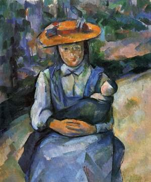 Reproduction oil paintings - Paul Cezanne - Little Girl With A Doll