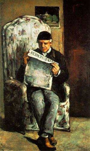 Reproduction oil paintings - Paul Cezanne - Louis Auguste Cezanne  Father Of The Artist  Reading  L Evenement