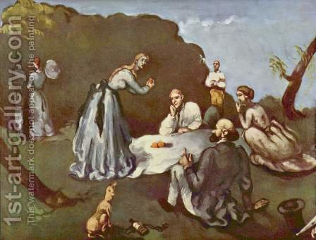 Luncheon On The Grass by Paul Cezanne - Reproduction Oil Painting