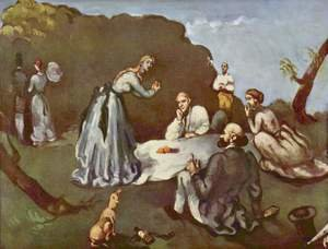 Reproduction oil paintings - Paul Cezanne - Luncheon On The Grass