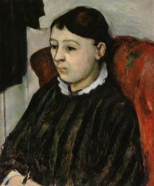 Reproduction oil paintings - Paul Cezanne - Madame Cezanne In A Striped Robe