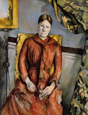 Reproduction oil paintings - Paul Cezanne - Madame Cezanne In A Yellow Chair