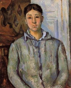 Reproduction oil paintings - Paul Cezanne - Madame Cezanne In Blue Aka Sant Van Victoria