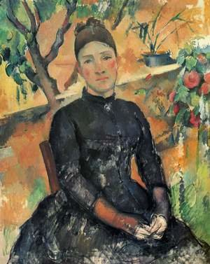 Reproduction oil paintings - Paul Cezanne - Madame Cezanne In The Conservatory