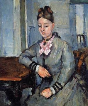 Reproduction oil paintings - Paul Cezanne - Madame Cezanne Leaning On Her Elbow