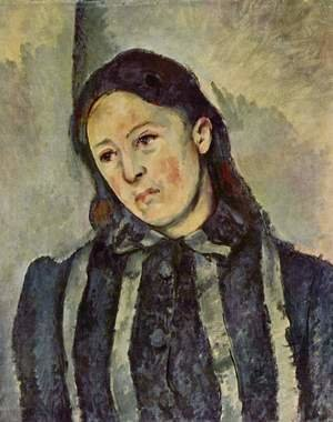 Reproduction oil paintings - Paul Cezanne - Madame Cezanne With Unbound Hair
