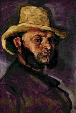 Reproduction oil paintings - Paul Cezanne - Man In A Straw Hat