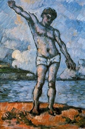 Reproduction oil paintings - Paul Cezanne - Man Standing  Arms Extended