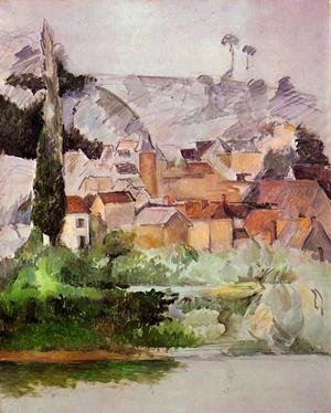 Reproduction oil paintings - Paul Cezanne - Medan Chateau And Village