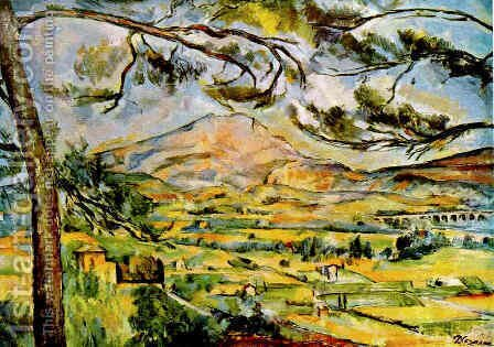 Paul Cezanne: Mont Sainte Victoire (Courtauld) - reproduction oil painting
