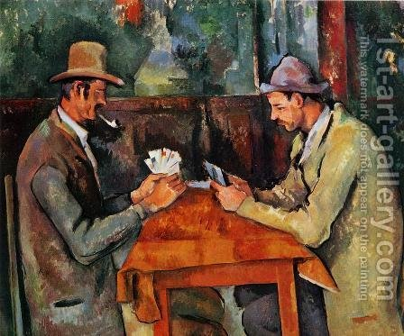 Paul Cezanne: The Card Players - reproduction oil painting
