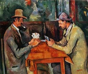 Famous paintings of Interiors: The Card Players