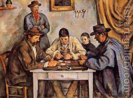 Paul Cezanne: The Card Players2 - reproduction oil painting