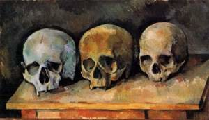 Famous paintings of Skeletons: The Three Skulls