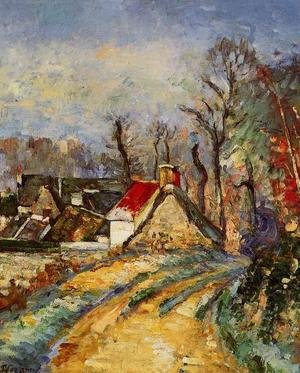 Reproduction oil paintings - Paul Cezanne - The Turn In The Road At Auvers