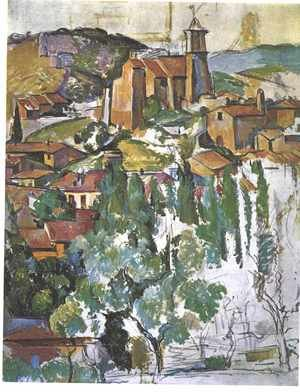 Reproduction oil paintings - Paul Cezanne - The Village Of Gardanne