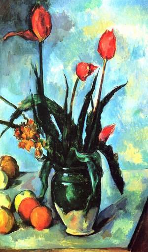 Reproduction oil paintings - Paul Cezanne - Tulips In A Vase