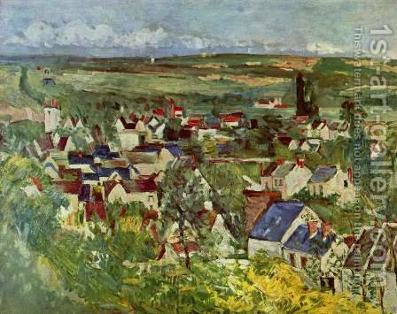 View Of Auvers Sur Oise by Paul Cezanne - Reproduction Oil Painting