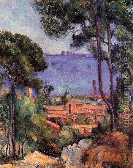 Paul Cezanne: View Through The Trees - reproduction oil painting