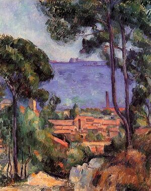 Reproduction oil paintings - Paul Cezanne - View Through The Trees