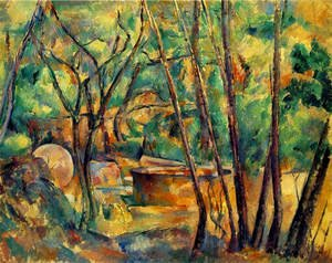 Reproduction oil paintings - Paul Cezanne - Well  Millstone And Cistern Under Trees Aka Meule Et Citerne Sous Bois