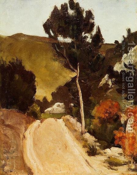 Winding Road In Provence by Paul Cezanne - Reproduction Oil Painting