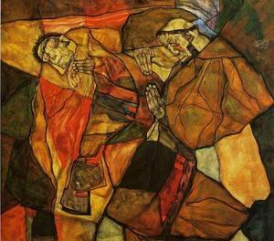 Reproduction oil paintings - Egon Schiele - Agony
