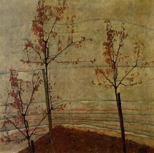 Reproduction oil paintings - Egon Schiele - Autumn Trees