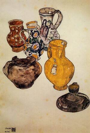Reproduction oil paintings - Egon Schiele - Ceramics