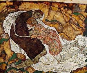Reproduction oil paintings - Egon Schiele - Death And The Maiden