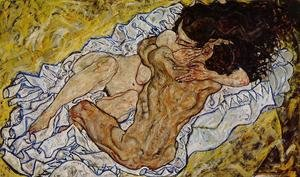 Egon Schiele reproductions - Embrace Aka Lovers II