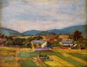 Reproduction oil paintings - Egon Schiele - Landscape In Lower Austria