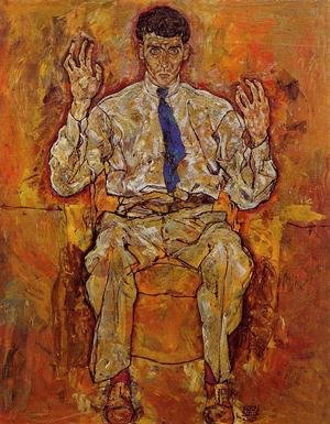 Reproduction oil paintings - Egon Schiele - Portrait Of Albert Paris Von Gutersloh