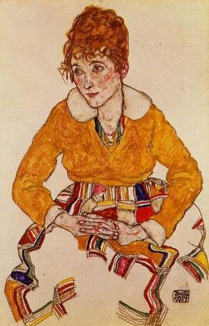 Reproduction oil paintings - Egon Schiele - Portrait Of The Artists Wife