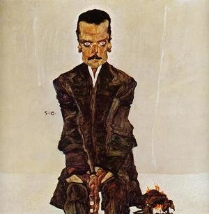 Reproduction oil paintings - Egon Schiele - Portrait Of The Publisher Eduard Kismack