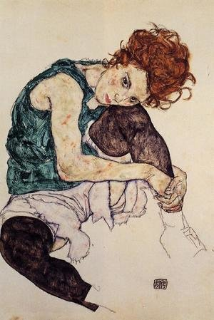 Egon Schiele reproductions - Seated Woman With Bent Knee