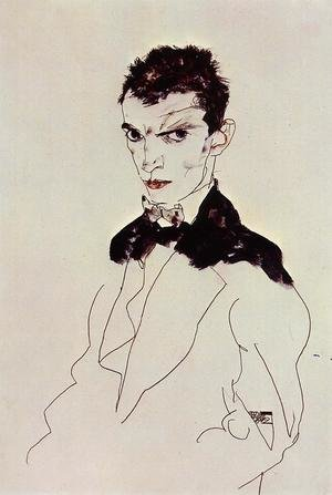 Reproduction oil paintings - Egon Schiele - Self Portrait6