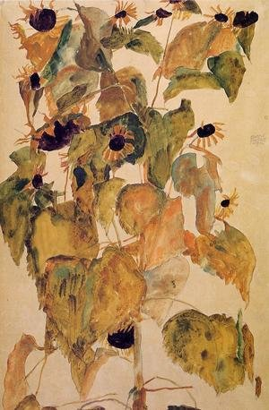 Reproduction oil paintings - Egon Schiele - Sunflowers2