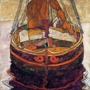 Reproduction oil paintings - Egon Schiele - Trieste Fishing Boat