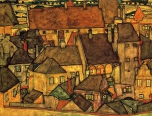 Reproduction oil paintings - Egon Schiele - Yellow City