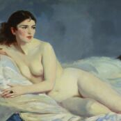 Oil painting reproductions - Ashcan School - Robert Henri: Betalo  Nude