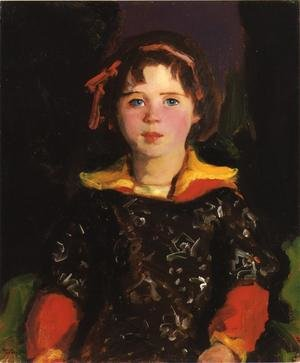 Ashcan School painting reproductions: Bridgie Aka Girl With Chinese Dress