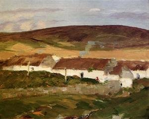 Ashcan School painting reproductions: Irish Cottage