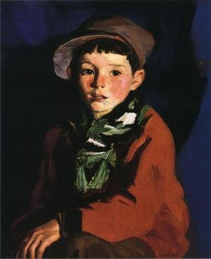 Ashcan School painting reproductions: Listening Boy