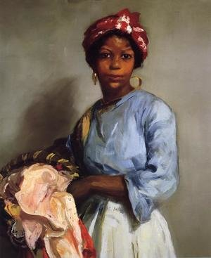 Ashcan School painting reproductions: The Laundress